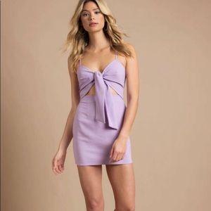 NWOT Tobi purple dress with front tie